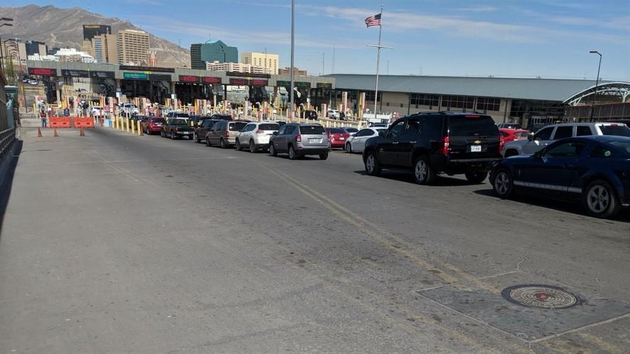 Busy Border Crossing in Texas