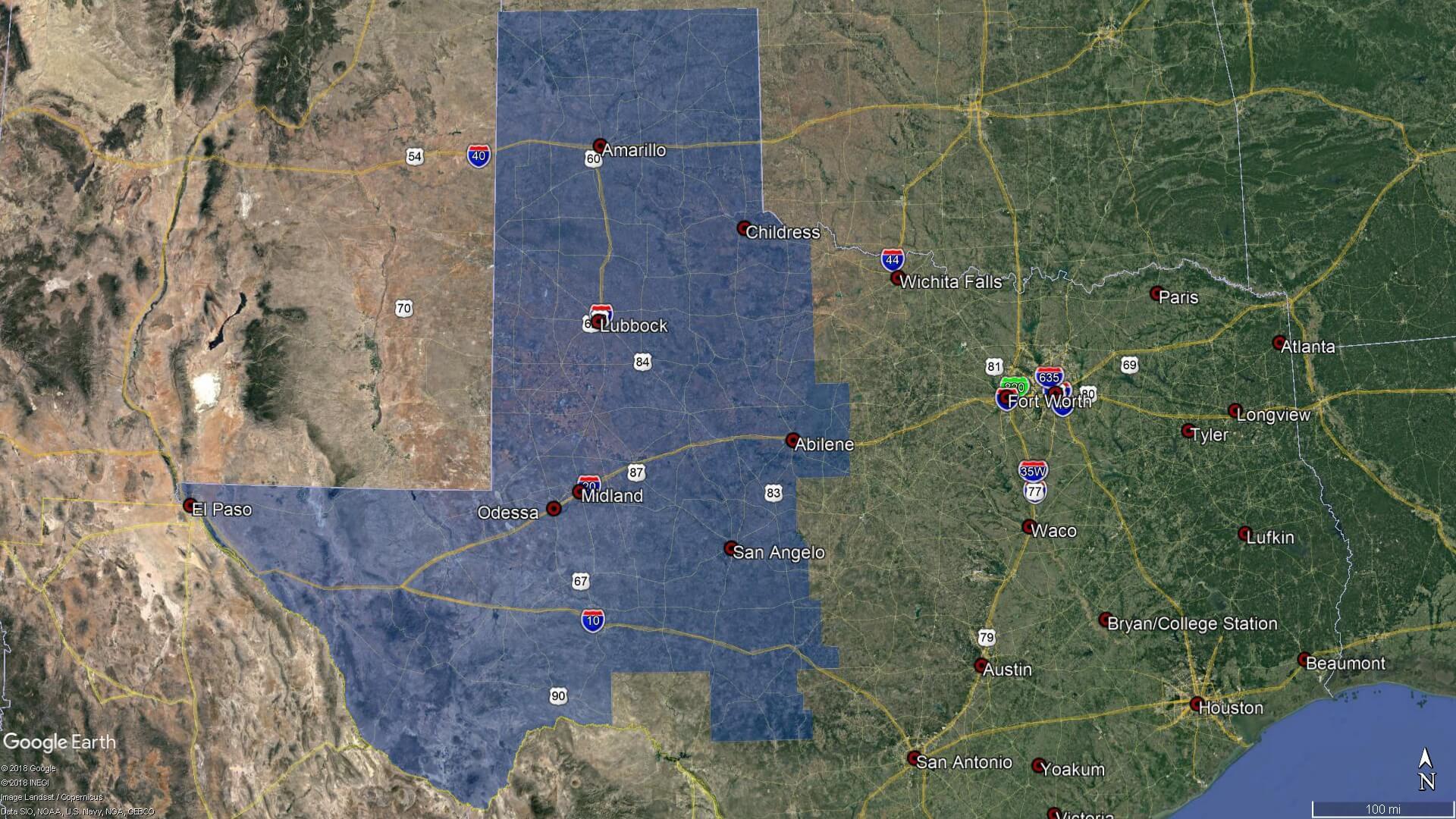 HVJ West Texas Map