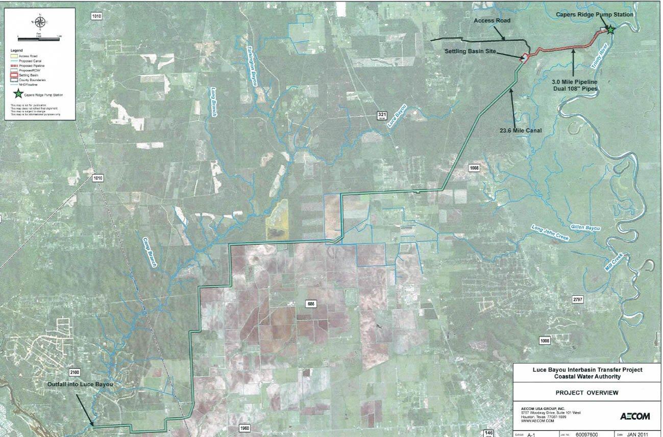 Luce Bayou Map