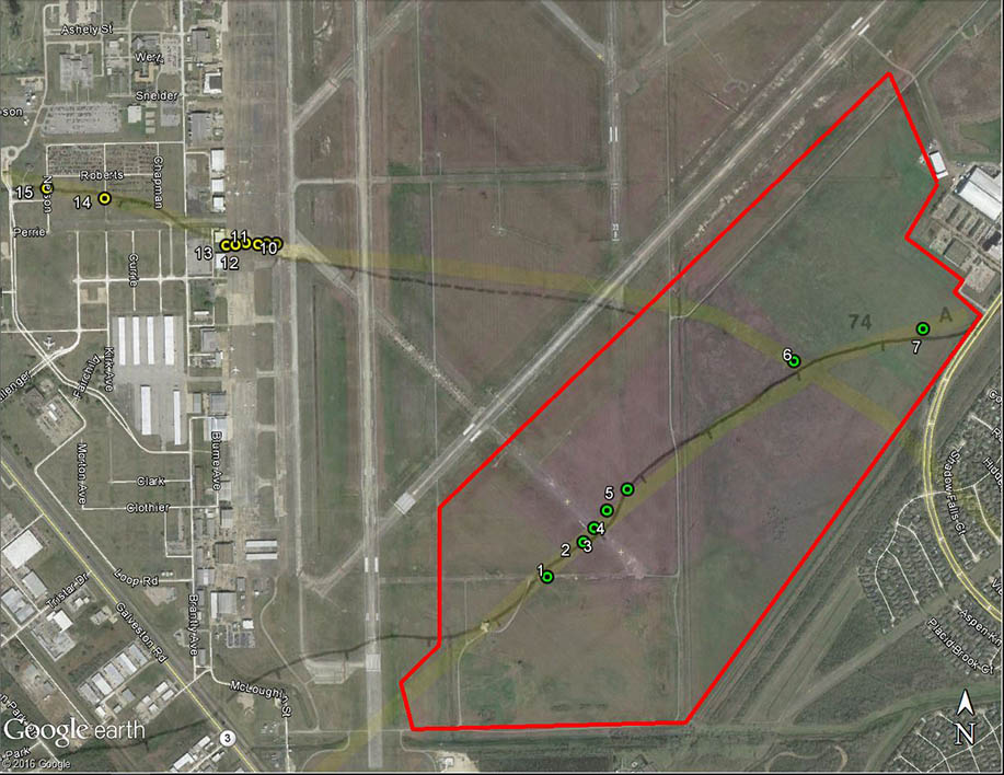 Observation Points Map of Ellington Field Spaceport Development Project