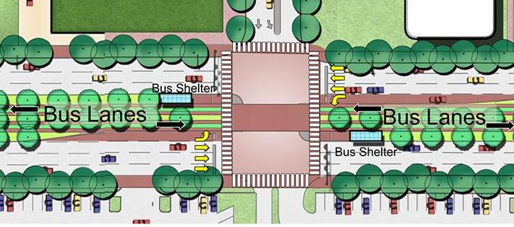 Post Oak Boulevard overhead engineering rendering