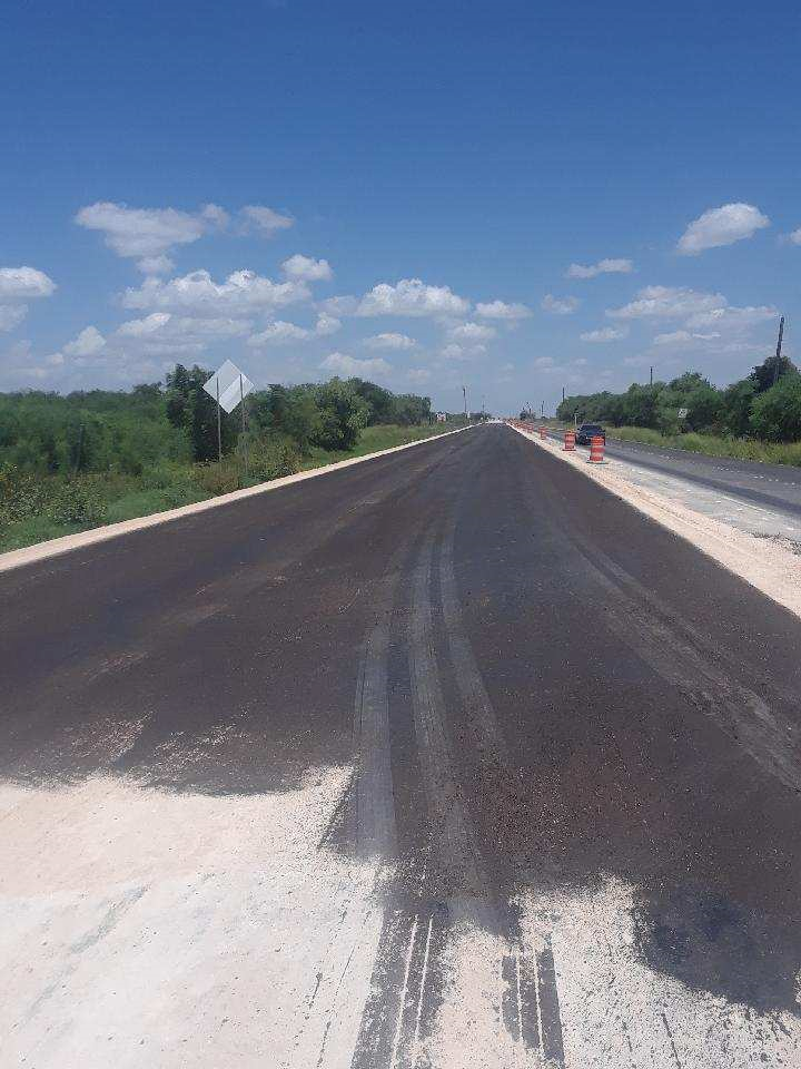 State Highway 186 During Construction in Texas