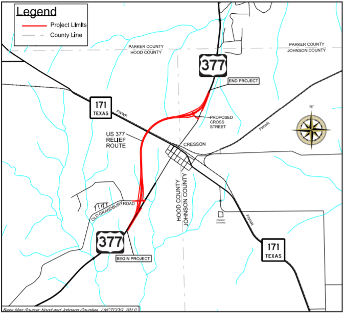 us 377 Map